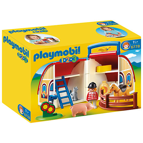 Buy Playmobil 123 Take Along Barn Online at johnlewis.com