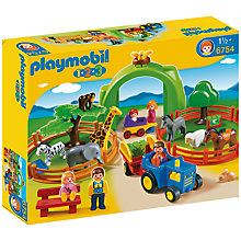 Buy Playmobil 123 Large Zoo Online at johnlewis.com