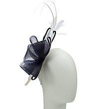 Buy John Lewis Amy Bow Fascinator, Navy/White Online at johnlewis.com