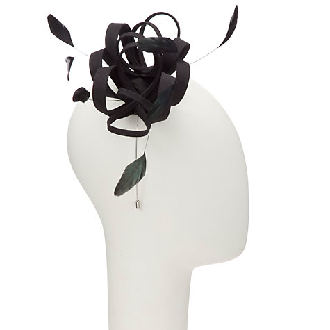 Buy John Lewis Shantung Loop & Feather Fascinator Online at johnlewis.com