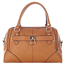 Buy Oasis Lock Barrel Bag, Tan Online at johnlewis.com