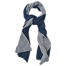 Buy Phase Eight Colour Block Scarf, Blue/Grey Online at johnlewis.com