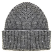 Buy Warehouse Turn Up Beanie Hat, Dark Grey Online at johnlewis.com