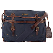 Buy Polo Ralph Lauren Canvas Messenger Bag, Navy Online at johnlewis.com