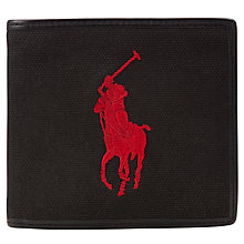Buy Polo Ralph Lauren Canvas Polo Player Wallet, Black Online at johnlewis.com