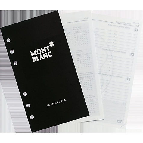 Buy Montblanc Calendar 2014 Medium 1 Week on 2 Pages Refill Online at johnlewis.com