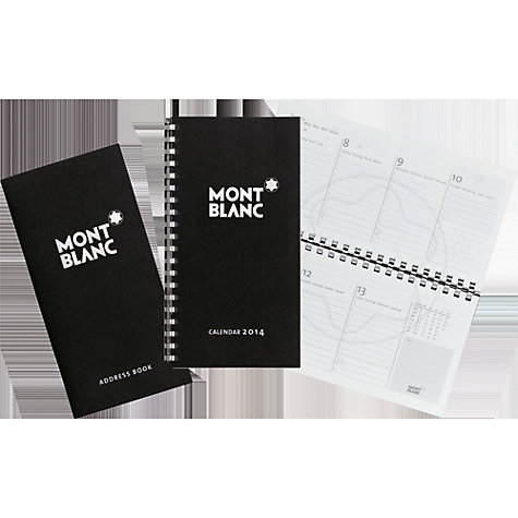 Buy Montblanc Horiz 2014 Pocket Diary, Black Online at johnlewis.com
