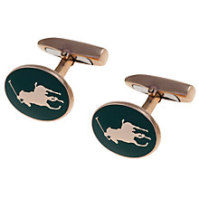 Buy Polo Ralph Lauren Pony Enamel 24ct Cufflinks Online at johnlewis.com