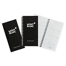Buy Montblanc 2014 Calendar and Address Book, Black Online at johnlewis.com