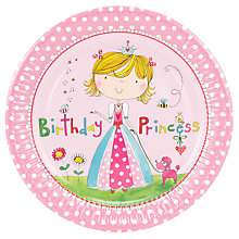 Buy Rachel Ellen Princess Plates, Pink, Pack Of 8 Online at johnlewis.com