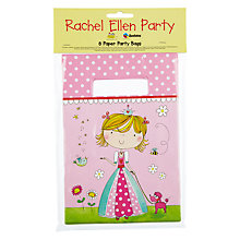 Buy Rachel Ellen Princess Party Bags, Pink, Pack Of 8 Online at johnlewis.com