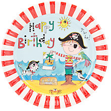 Buy Rachel Ellen Pirate Plates, Multi, Pack Of 8 Online at johnlewis.com