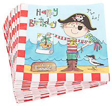 Buy Rachel Ellen Pirate Napkins, Multi, Pack Of 20 Online at johnlewis.com