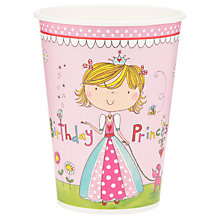 Buy Rachel Ellen Princess Cups, Pink, Pack Of 8 Online at johnlewis.com