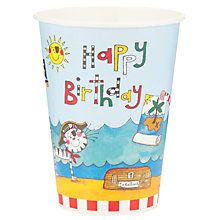 Buy Rachel Ellen Pirate Cups, Multi, Pack Of 8 Online at johnlewis.com