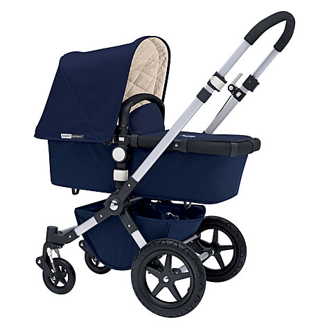Buy Bugaboo Cameleon3 Pram Base with Classic Navy Fabric Online at johnlewis.com