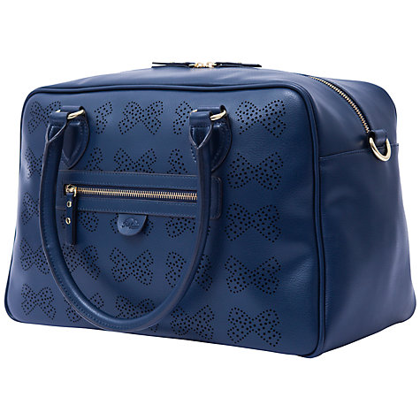 Buy Pink Lining Grace Leather Bows Changing Bag, Navy Online at johnlewis.com