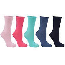 Buy John Lewis Fashion Cotton Mix Ankle Socks, Multi, Pack of 5 Online at johnlewis.com