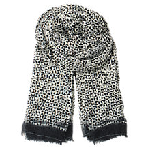 Buy Becksöndergaard Triangle Print Fine Cotton Scarf, Black/White Online at johnlewis.com
