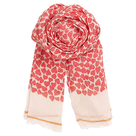 Buy Becksöndergaard Fine Cotton Petit Amour Print Scarf Online at johnlewis.com