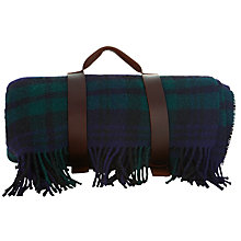 Buy Johnstons of Elgin The Cheviot Tartan Pure Wool Rug, Green/Navy Online at johnlewis.com