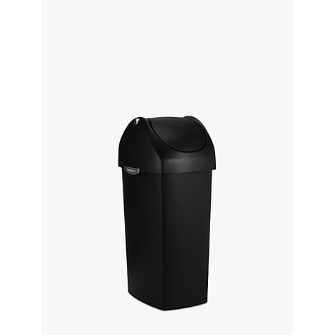 Buy simplehuman Plastic Swing Bin, Black, 40L Online at johnlewis.com