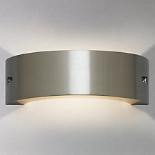 Buy John Lewis Jericho Crecent LED Outdoor Wall Light, Satin Nickel Online at johnlewis.com