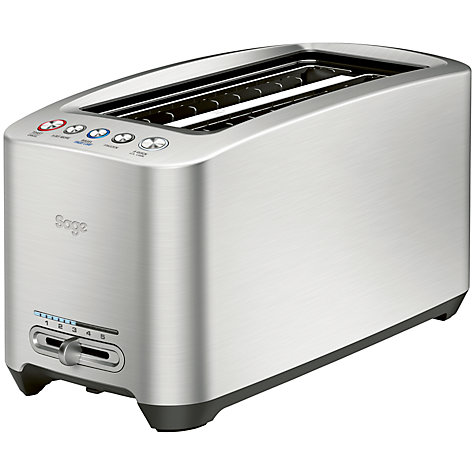Buy Sage by Heston Blumenthal the Smart Toast™ 4-Slice Long Slot Toaster, Silver Online at johnlewis.com