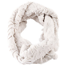 Buy Chesca Ivory Soft Fur Snood, White Online at johnlewis.com