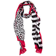 Buy Betty Barclay Long Flower Scarf, Black/Pink Online at johnlewis.com