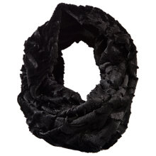 Buy Chesca Soft Fur Snood, Black Online at johnlewis.com