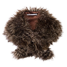 Buy Chesca Mink Brown Raccoon Fur Scarf, Brown Online at johnlewis.com