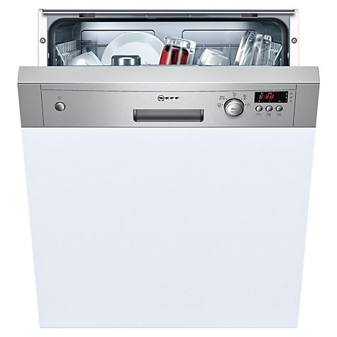 Buy Neff S41E50N0GB Semi-Integrated Dishwasher, Stainless Steel Online at johnlewis.com