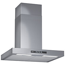 Buy Neff D76B21N1GB Chimney Cooker Hood, Stainless Steel Online at johnlewis.com