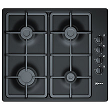 Buy Neff T21S36S1 Gas Hob, Black Online at johnlewis.com