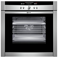 Buy Neff B46E74N3GB Slide and Hide Single Electric Oven, Stainless Steel Online at johnlewis.com