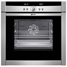 Buy Neff B45E74N3GB Slide and Hide Single Electric Oven, Stainless Steel Online at johnlewis.com