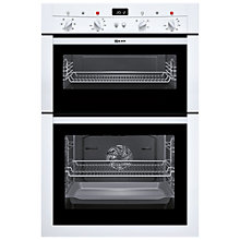 Buy Neff U14M42W3GB Double Electric Oven, White Online at johnlewis.com