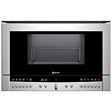 Buy Neff C54L70N3GB Built-In Microwave with Grill, Stainless Steel Online at johnlewis.com