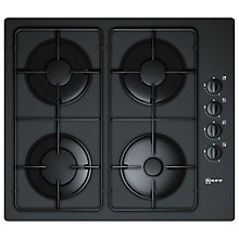 Buy Neff T61S31S1 Gas Hob, Black Glass Online at johnlewis.com