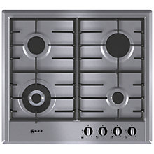 Buy Neff T22S46N0 Gas Hob, Stainless Steel Online at johnlewis.com