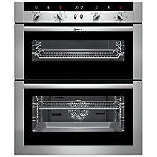 Buy Neff U17M52N3GB Built-Under Double Electric Oven, Stainless Steel Online at johnlewis.com