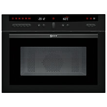 Buy Neff C57W40S3GB Built-In Microwave, Black Online at johnlewis.com