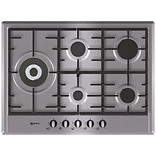 Buy Neff T25S76N0 Gas Hob, Stainless Steel Online at johnlewis.com