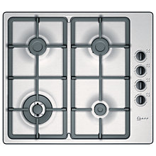 Buy Neff T21S46N1 Gas Hob, Stainless Steel Online at johnlewis.com