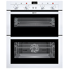 Buy Neff U17M42W3GB Built-Under Double Electric Oven, White Online at johnlewis.com