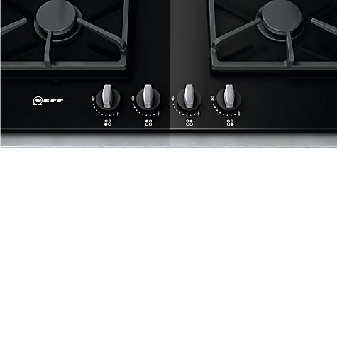 Buy Neff T66S66N0 Gas Hob, Black Glass Online at johnlewis.com