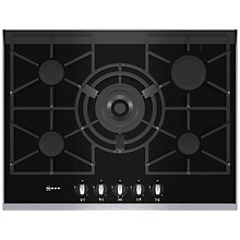 Buy Neff T67S76N1 Gas Hob, Black Glass Online at johnlewis.com