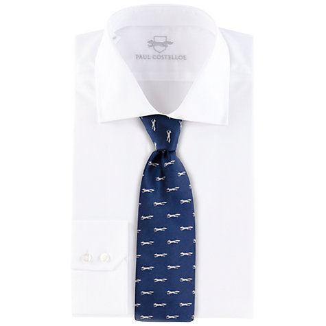 Buy Paul Costelloe Navy Twill Fox Silk Tie Online at johnlewis.com