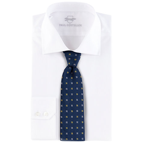 Buy Paul Costelloe Floral Silk Tie, Navy Online at johnlewis.com